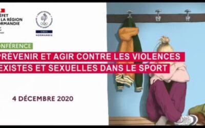 Prévenir les violences sexuelles dans le sport : Conférence de la DRDJSCS Normandie